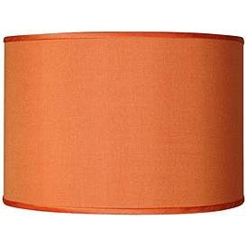 Orange Faux Silk Shade 12x12x8 5 Spider