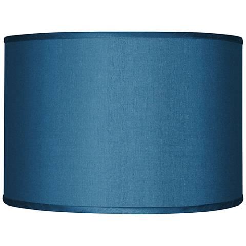 Blue Textured Faux Silk Shade 12x12x8.5 (Spider)