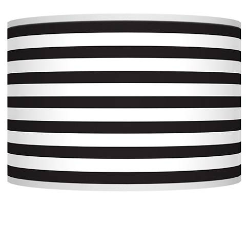 Black Horizontal Stripe Giclee Shade 12x12x8.5 (Spider)