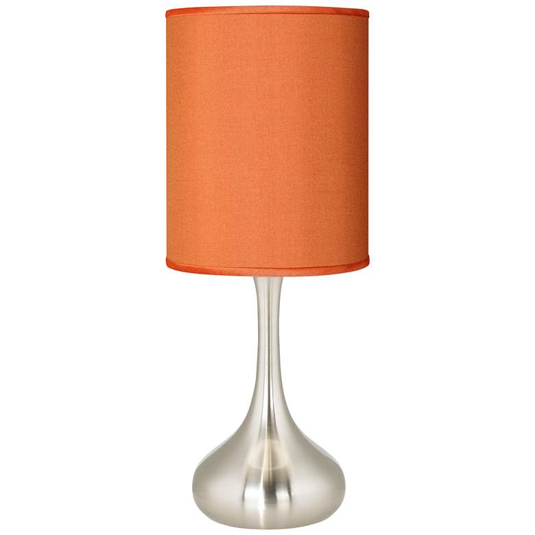 """Orange Polyester 23 1/2"""" High Droplet Table Lamp"""