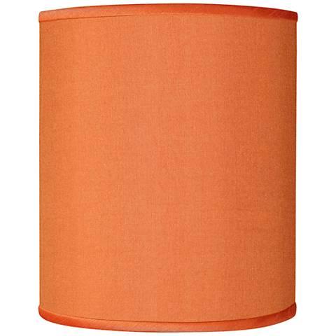 Orange Faux Silk Shade 10x10x12 (Spider)