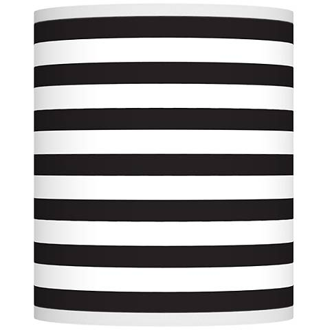 Black Horizontal Stripe Giclee Shade 10x10x12 (Spider)
