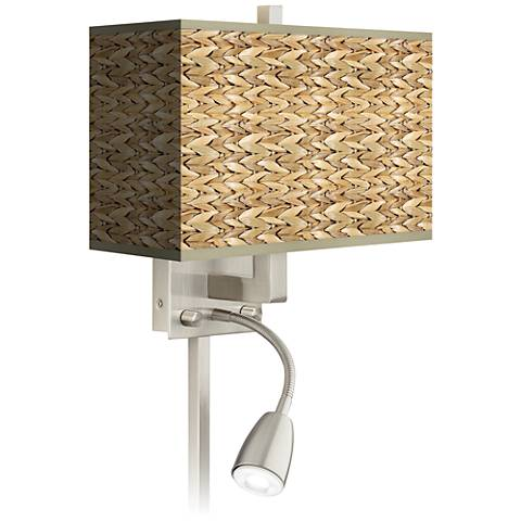 Seagrass Giclee LED Reading Light Plug-In Sconce