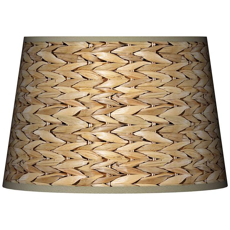 Seagrass Print Tapered Lamp Shade 13x16x10.5 (Spider)