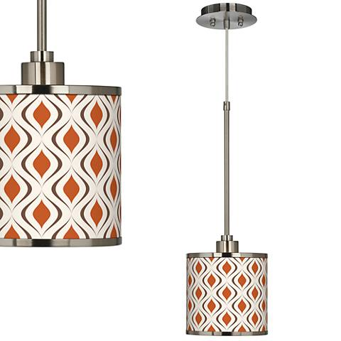 Retro Lattice Giclee Glow Mini Pendant Light