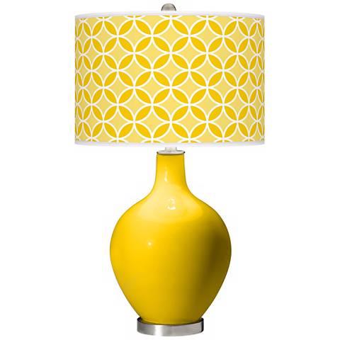 Citrus Circle Rings Ovo Table Lamp