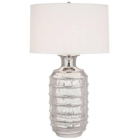 Plata Polished Nickel Metal Table Lamp