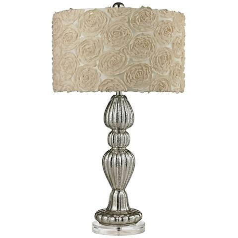 Alison Ribbed Glass Silver Mercury Glass Table Lamp