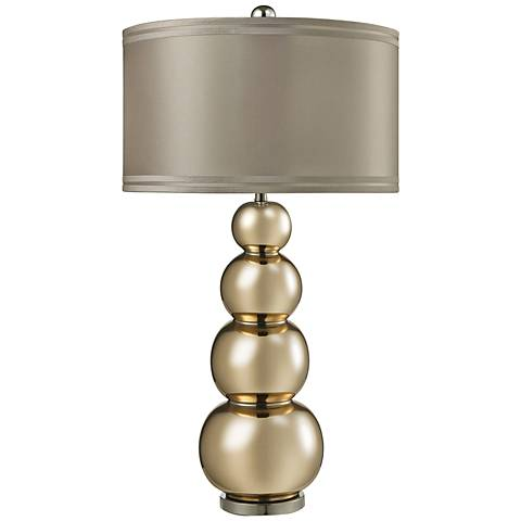 Silva Stacked Gourd Gold Mercury Glass Table Lamp