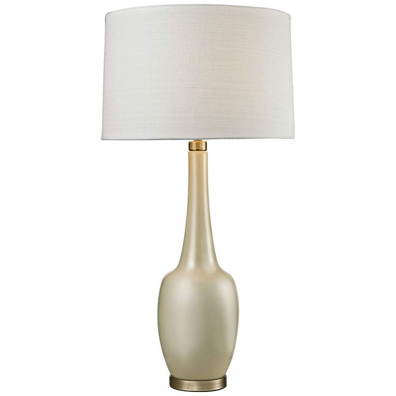 Grace Modern Vase Cream Ceramic Table Lamp