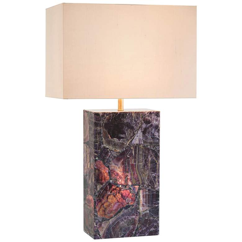 John Richard Cerulean Agate Table Lamp with Night