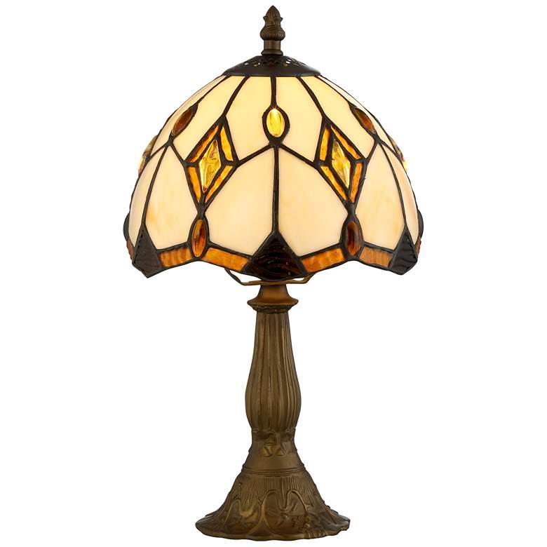 "Robert Louis Tiffany Bart 13 3/4"" High Art Glass Table Lamp"