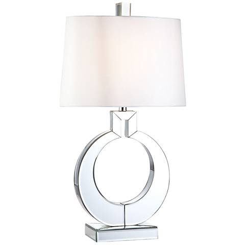 Omega Clear Mirror and Chrome Glass Table Lamp