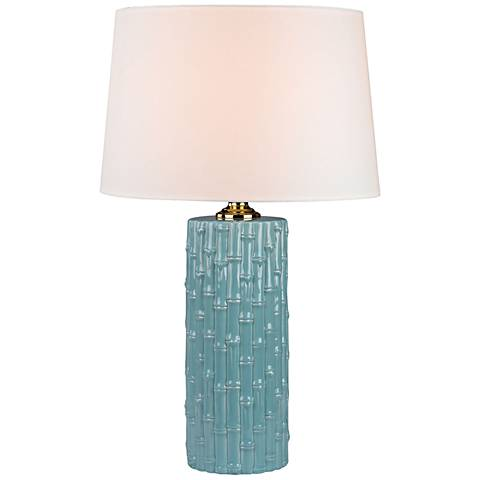 Lilly Duck Egg Blue Ceramic Table Lamp