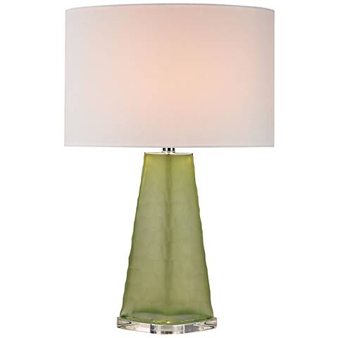 Courtney Skirted Glass Lime Green Table Lamp