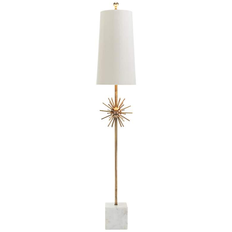 John Richard Orbit Brass Studded-Sphere Table Lamp