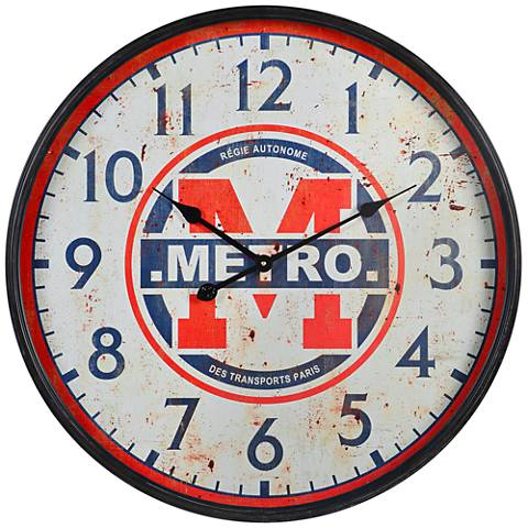 "Cooper Classics Metro Metal 26 3/4"" Round Wall Clock"