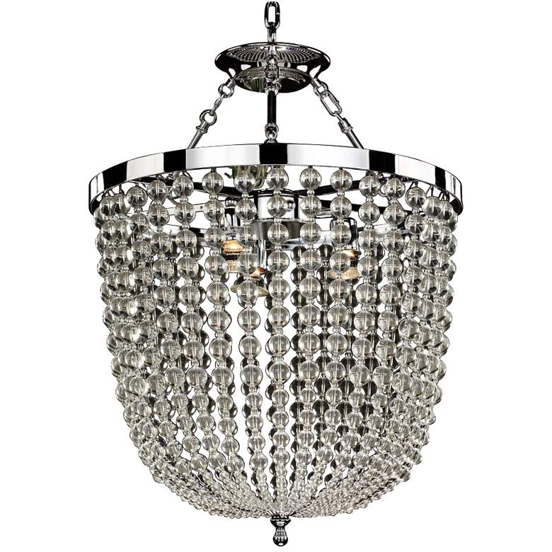 "Arcadia 19"" Wide Chrome and Crystal Dual-Mount Chandelier"