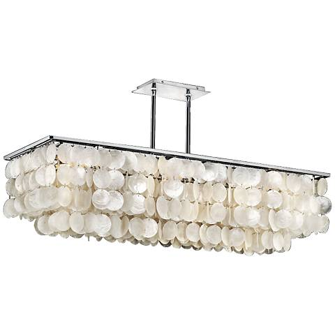 Bay Breeze 39 1 4 Wide Capiz Shell Linear Chandelier
