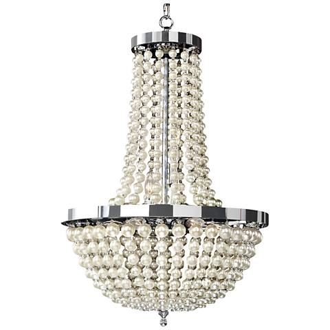 "Moscato 28 1/2"" Wide Champagne Pearl 9-Light Chandelier"