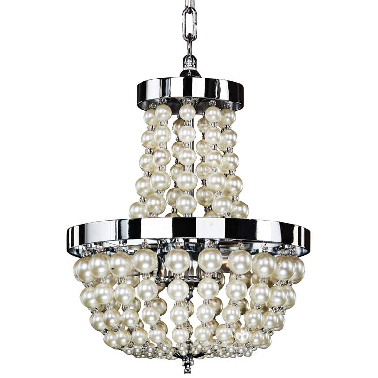 """Moscato 17 1/2"""" Wide Champagne Pearl 3-Light Chandelier"""