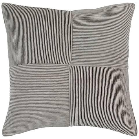 "Surya Conrad Textured Gray 18"" Square Throw Pillow"