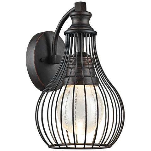 """Osage 13"""" High Weathered Charcoal LED Outdoor Wall Light"""