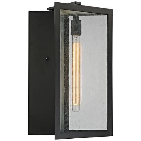"""Inverse 19"""" High Matte Black Outdoor Wall Light"""