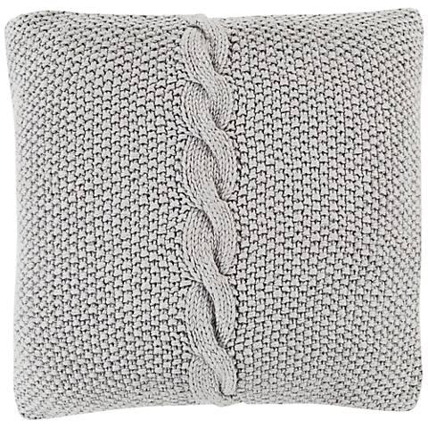 """Surya Genevieve Gray 18"""" Square Throw Pillow"""