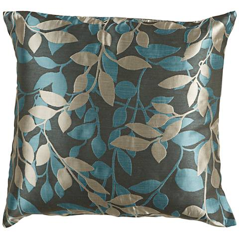 "Surya Wind Chime Green and Blue 22"" Square Throw Pillow"
