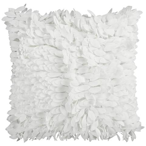 """Surya Claire Neutral 18"""" Square Throw Pillow"""