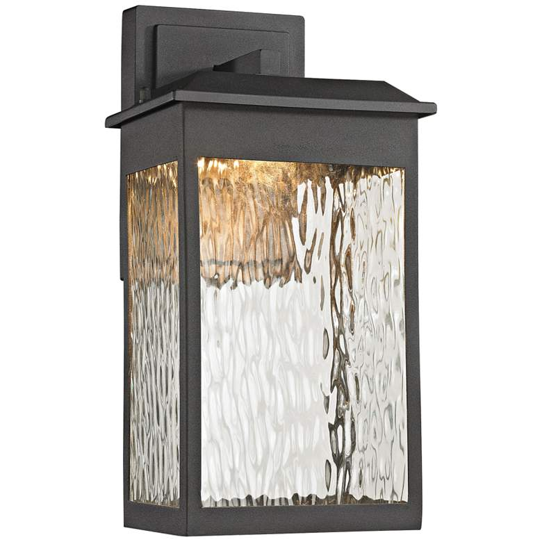 "Newcastle 13"" High Matte Black LED Outdoor Wall Light"