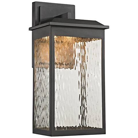 "Newcastle 17"" High Matte Black LED Outdoor Wall Light"