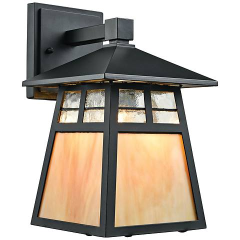 "Cottage 11"" High Matte Black Outdoor Wall Light"