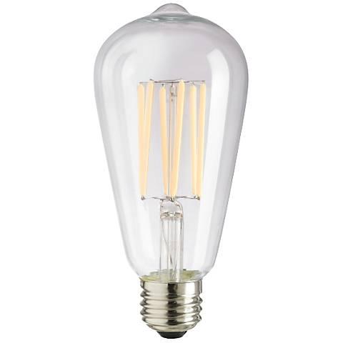 6 watt dimmable st64 filament e26 base led light bulb 9v847 lamps plus. Black Bedroom Furniture Sets. Home Design Ideas
