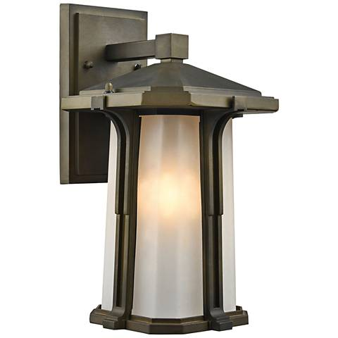 "Brighton 13"" High Smoked Bronze Outdoor Wall Light"