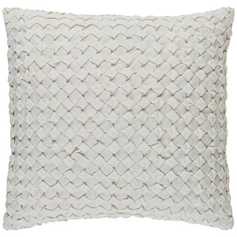 """Surya Ashlar Neutral 18"""" Square Throw Pillow"""
