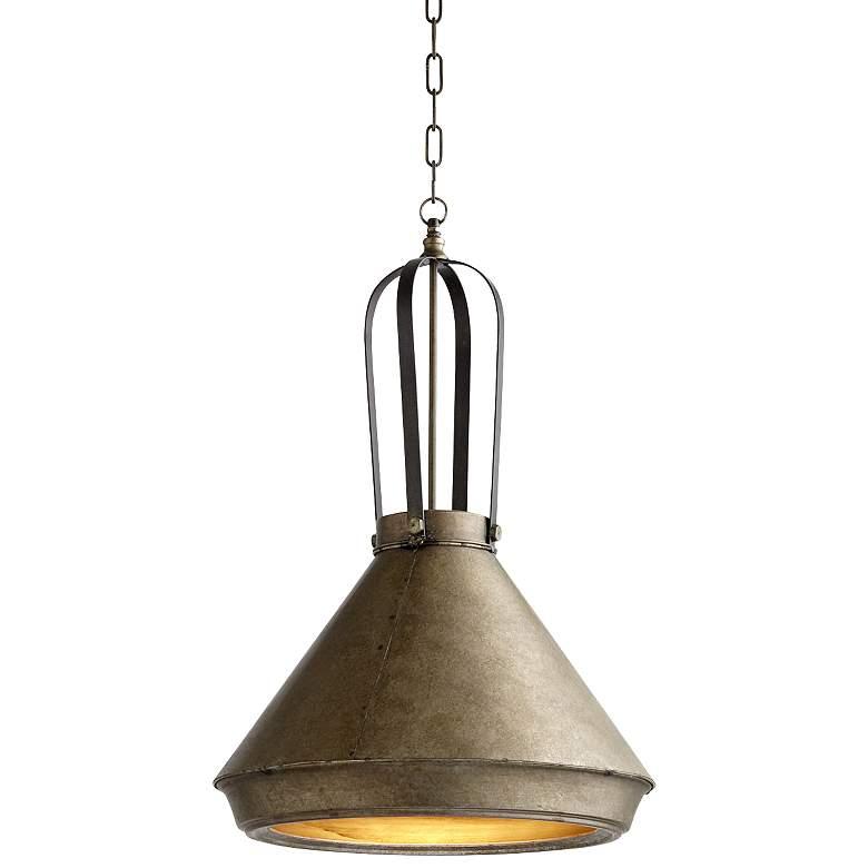 "Grayling 18"" Wide Canyon Bronze Cone Pendant Light"