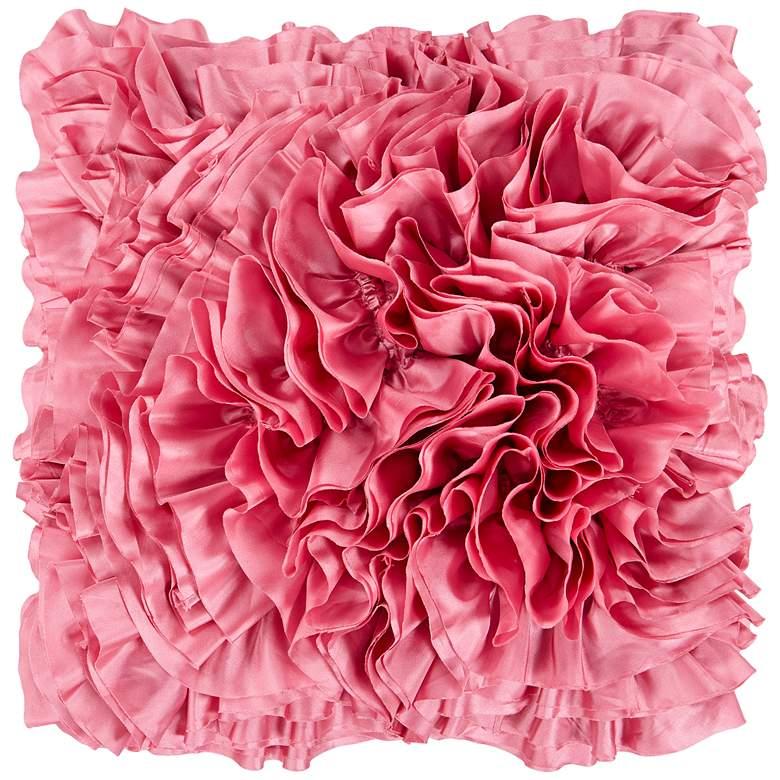"Surya Prom Pink 18"" Square Throw Pillow"
