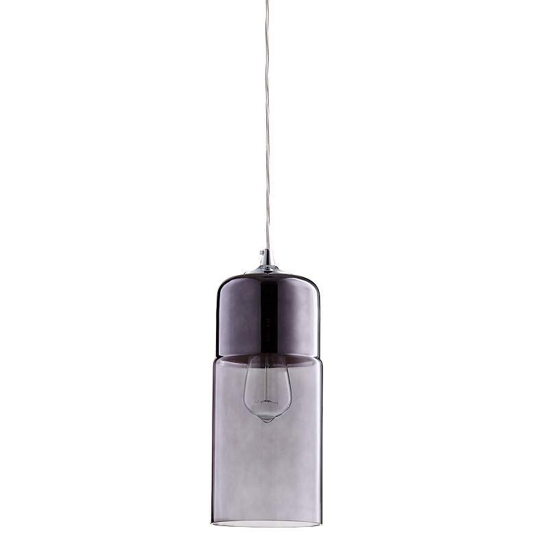 "Berdan 5"" Wide Two-Tone Smoke Glass Mini Pendant"