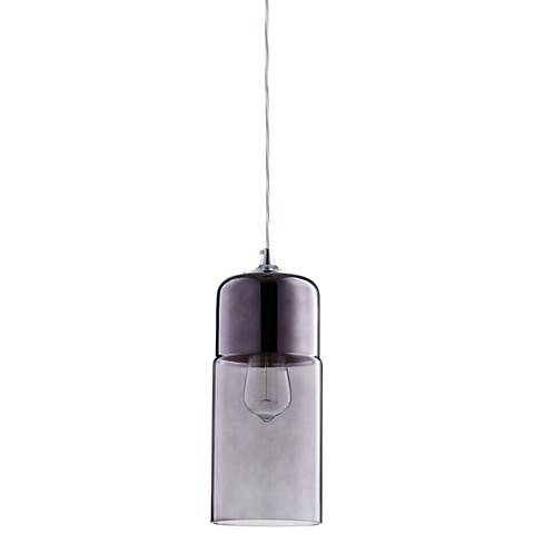 "Berdan 5"" Wide Two-Tone Smoke Glass Mini Pendant Light"