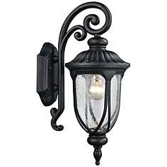 Elk Outdoor Lighting Elk outdoor lighting lamps plus derry hill 17 high matte black outdoor wall light workwithnaturefo