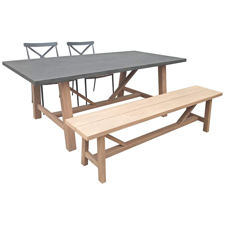 Amalfi Gray 4-Piece Outdoor Dining Set