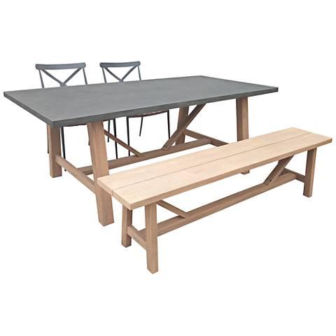 Amalfi Gray 4-Piece Outdoor Dining Set