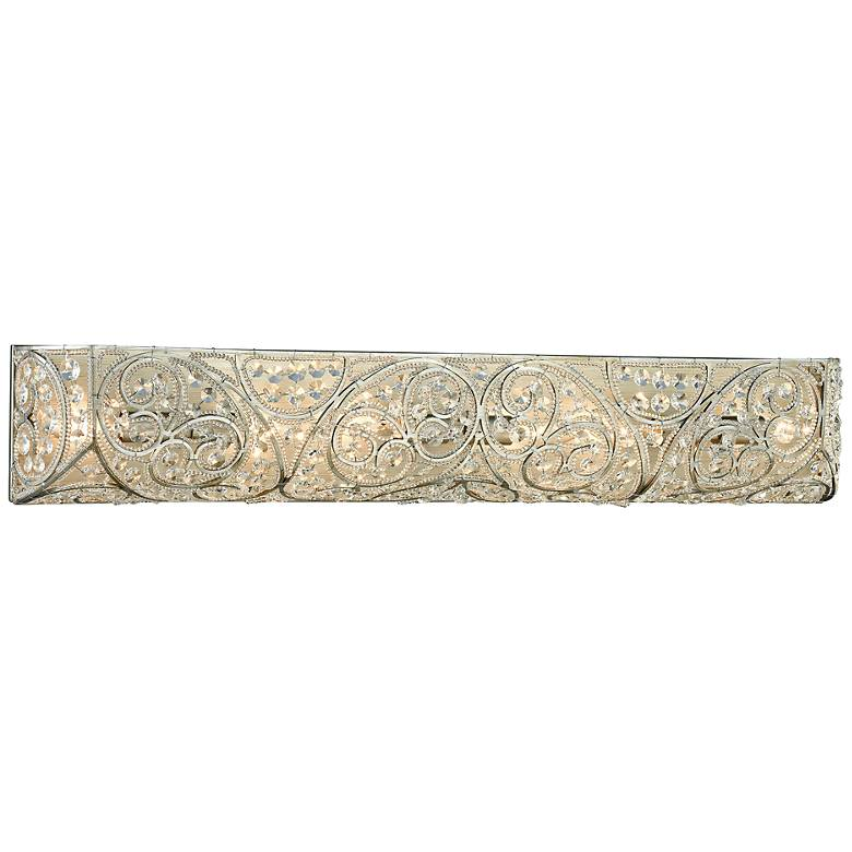 """Andalusia 34"""" Wide Aged Silver 6-Light Bath Light"""