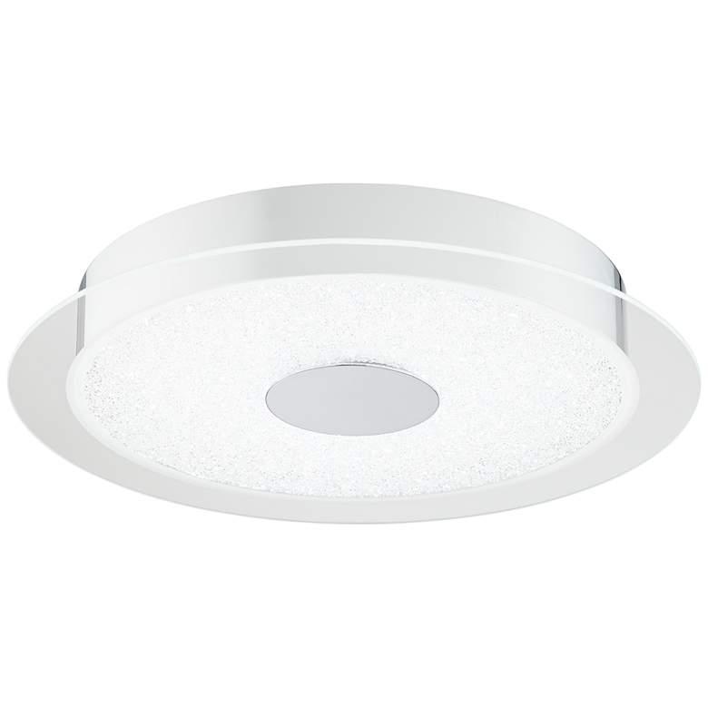 "Possini Crystal Sand 16"" Wide LED Chrome Ceiling Light"