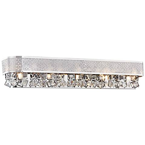 "Nashua 28"" Wide Polished Chrome 5-Light Bath Light"