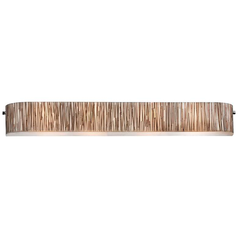 "Modern Organics 41"" Wide Chrome Bamboo Stems Bath Light"