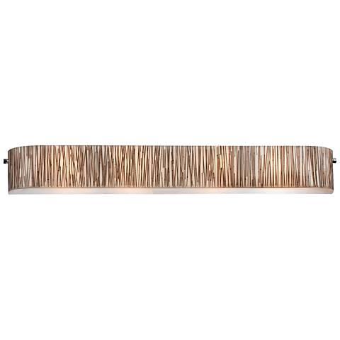 "Modern Organics 41"" Wide Chrome Bamboo Stems Bath Light"
