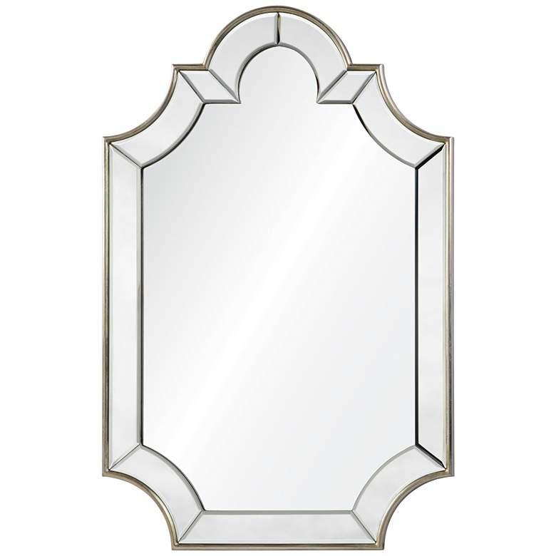 "Bienville Silver 24"" x 36"" Arch Top Wall Mirror"